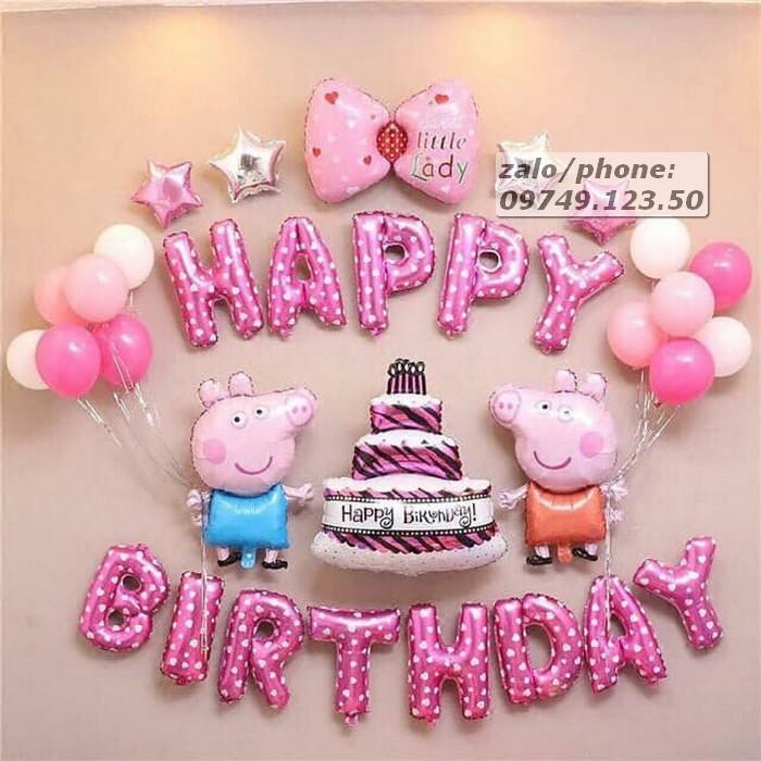 Set bóng sinh nhật chú cừu màu xanh 02